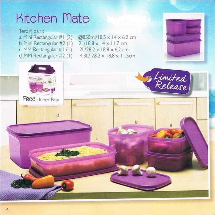 ORI Kitchen Mate, Modular Mate Rectangular Set, MM Mini Rectangular