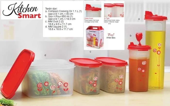 ORI Kitchen Smart Set (isi 5), Modular Mate Square,MM Oval,Cooking Oil